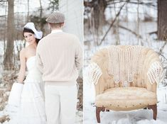 Outdoor winter  Weddings | Outdoor Whimsical Winter Wedding Inspiration | Green Wedding Shoes ...