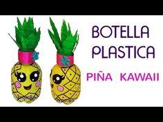 Manualidad fácil Piña hecha con botellas de plástico y materiales reciclados - YouTube