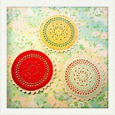 Free Crochet Pattern: Enhanced Vintage Kitchen Trivets by Adaiha
