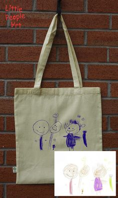 Items similar to Personalized tote bag with your child drawing personalized gift custom handmade organic tote bag on Etsy Drawing Bag, New Business Ideas, Personalized Tote Bags, Unique Gifts, Handmade Gifts, Silk Screen Printing, People Art, Drawing For Kids, Little People