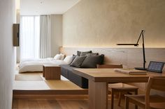 Japan's first MUJI HOTEL opens in Ginza — Design Anthology Style Muji, Maison Muji, Casa Muji, Muji Home, Tatami, Room Interior, Interior Design, Interior Livingroom, Hotel Room Design