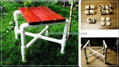 мебель из ппвх труб (стул)