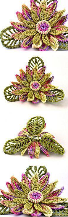 Crochet Brooch Fiber Brooch Irish Crochet Pin от Nothingbutstring