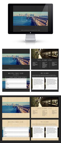 Free Powerpoint Template - Big Apple by Prakarn Nisarat, via Behance