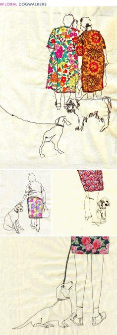 As a former dog walker, i especially appreciate this artist.  Art Round-up: Florals