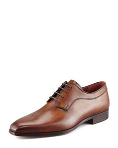 Magnanni for Neiman Marcus BROWN LACEUP