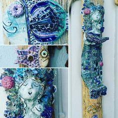 Driftwood cheramic mermaid