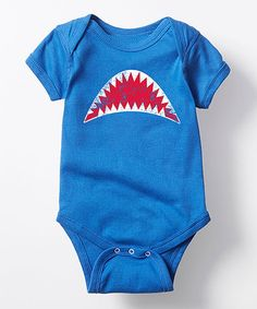 Loving this Royal Blue Shark Bite Bodysuit - Infant on #zulily! #zulilyfinds
