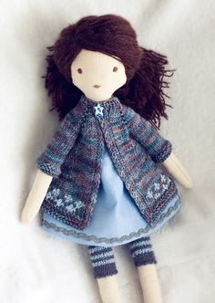 Tiffany  dressable cloth doll by TangledThings on Etsy