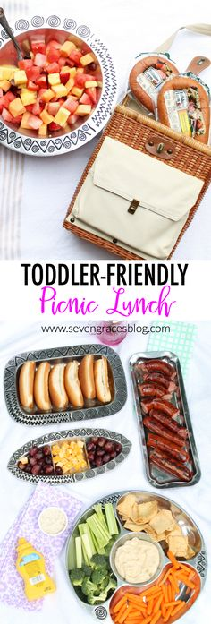 An easy, toddler-friendly picnic lunch that your whole family will love! Easy toddler lunch ideas. #nohasslesavorymeal #pmedia #ad @krogerco