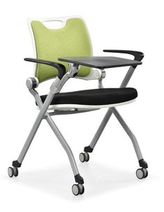 Wholesale price folding office chair / training chair / offic echairs with writing pad