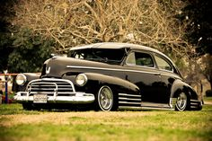 1946 Chevy Fleetline ~ In 1946, automobile production for private consumers resumed.