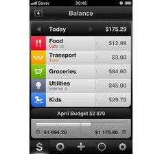 App Giveaway: Saver ~ Control your Expenses for iPhone Ios Design, Dashboard Design, Interface Design, User Interface, Graphic Design, Budget App, Monthly Budget, Iphone Ui, Mobile App Design