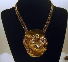 Vintage Trifari Jonathan Bailey Fx Pearl Golden Nugget Necklace Book Ad