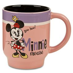 "Looks like Minnie is calling you - your morning coffee is ready! ""YOO HOO!"" MINNIE MOUSE #COFFEE MUG #Disney"