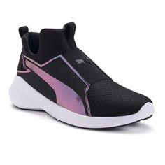 PUMA Rebel Mid Swan Women's Sneakers, Black