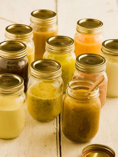 Ten Salad Dressings.  It's easy to make your own personalized salad dressings. The basic ratio of sour, sweet and oil is easily modified and infinitely variable. This recipe makes enough for several salads because it's just as easy to make a lot as a little and, once you taste your own dressings, you won't be able to get enough.