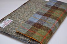 HARRIS TWEED fabric laptop case/cover