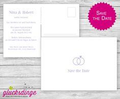 Individuelle ♥ SAVE THE DATE KARTE ♥ Ring von j-designerie - FEINE DRUCKSACHEN auf DaWanda.com