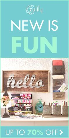 Discover hundreds of ideas for the living room! With daily deals starting every morning, we have THOUSANDS of NEW PRODUCTS every day. At zulily, you never know what you'll find. Sign up for free now!