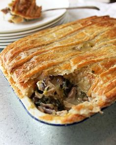 Chicken, Kale and Mushroom Pie | Milk and Honey | Bloglovin'