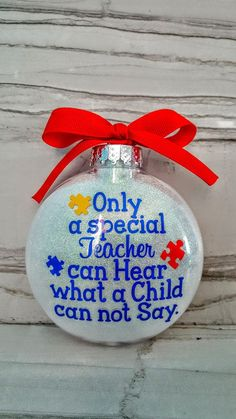 Christmas ornament for special education teacher of non-verbal / autism children #ad