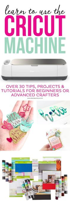 Sewing For Beginners Learn to use the Cricut Machine with over 30 tips, projects, and tutorials for beginners or advanced crafters! - Learn to use the Cricut Machine with over 30 tips, projects, and tutorials for beginners or advanced crafters! Cricut Ideas, Cricut Tutorials, Sewing Tutorials, Ideas For Cricut Projects, Cricut Vinyl Projects, Sewing Patterns, Diy Projects To Sell, Crochet Patterns, Cricut Help