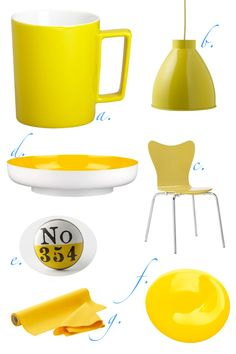 items that are the color yellow   color fixation :: yellow