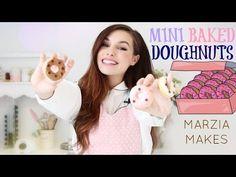 MINI BAKED DOUGHNUTS   Marzia Makes - YouTube