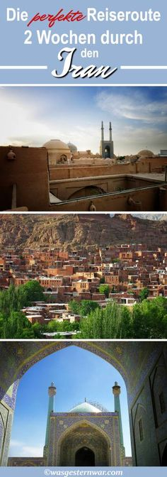 Nur wenig Zeit? Die perfekte Reiseroute für 2 Wochen im Iran. Alle Highlights ganz ohne Stress. Besucht Esfahan, Yazd und Teheran!