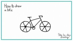 How to draw a BIKE in 7 STEPS - EASY #drawings #bike #stepbystepdrawings #easydrawings