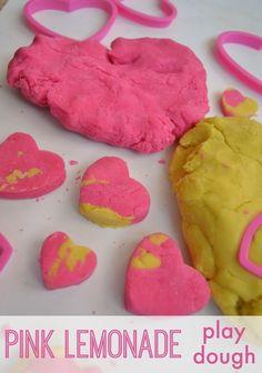 Pink Lemonade Play Dough! Smells yummy!