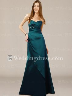 Impressions Bridesmaid Dresses ~ Teal, beautiful for a wedding dress