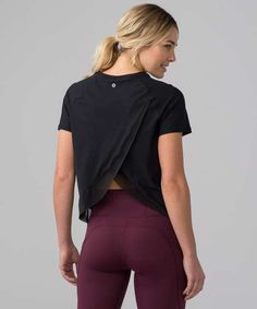 e10f3986 Quick Pace Short Sleeve - Black (First Release) Lululemon Shirts, Fabric  Panels,. lulu fanatics