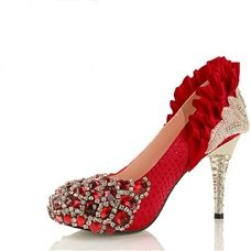 Vienna Crystal Diamond White Lace Noble Wedding Shoes
