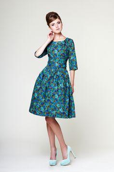 Image of Katherine - Cotton Dress made of Liberty Fabric