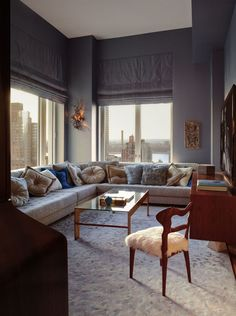Luxurious living room in soft palate.