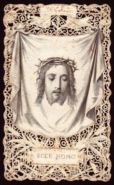 Antique French Lace Holy Card ... Good Friday