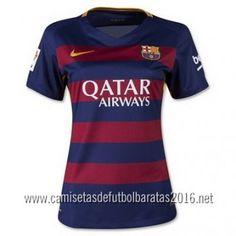 Camiseta de fútbol baratas mujer Barcelona 2016 1ª equipación