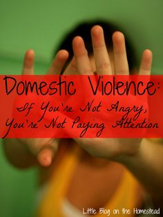 Domestic Violence: If You're Not Angry, You're Not Paying Attention