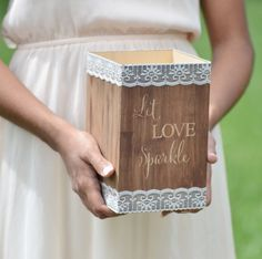 Wedding sparklers holder, let love sparkle, wooden sparklers box, wedding decor