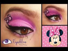 Disney Minnie Mouse Inspired Eye Design By Eyedolize Makeup - Mia mouse first birthday - Eye Makeup Disney Eye Makeup, Disney Inspired Makeup, Creative Makeup Looks, Simple Eye Makeup, Holiday Makeup, Halloween Makeup, Easy Halloween, Mini Mouse Makeup, Minnie Maus Halloween