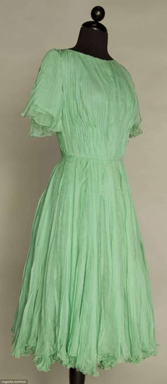 Cocktail dress, silk, Jacques Fath designer, French, 1950s