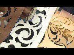 """Ажурный ламбрекен.Инструменты и материалы для создания ажурного бандо """"Листики"""". - YouTube"""