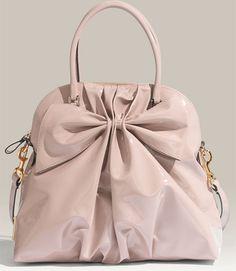 Valentino Bon Bon Dome Bow Patent Leather Satchel.  $1295.