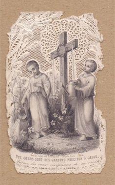 画像1: 【カニヴェ】【イエスの聖なる御墓と子供たち】フランス・アンティーク&ヴィンテージホーリーカード