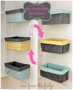 Make a reversible wire bin liner | View From The Fridge