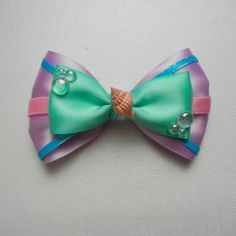 Festival of Fantasy Seashell Girl Inspired Bow by SmallWorldBows, $8.50