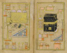 MUHAMMAD BIN SULAYMAN AL-JAZULI (D. 1472 AD):DALA'IL AL-KHAYRAT SIGNED HAFIZ MUHAMMAD B.HASAN, OTTOMAN TURKEY,DATED AH 1148/1735 AD Arabic manuscript on paper,127ff. plus 2 fly-leaves,each folio with 9ll.of black naskh within gold and black rules,gold roundel verse markers,titles in white on gold ground,catchwords,illuminated headpiece, two miniatures of the Ka'ba and the Mosque of the Prophet, in gilt morocco binding Text panel 4 x 2¼in. (10.2 x 5.8cm.); folio 5 7/8 x 3 5/8in. (15.1 x…
