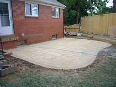 curved concrete pad